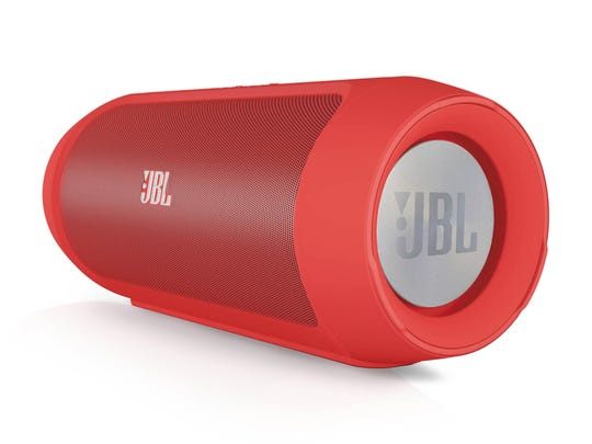 The JBL Charge 2 Portable Bluetooth Speaker.