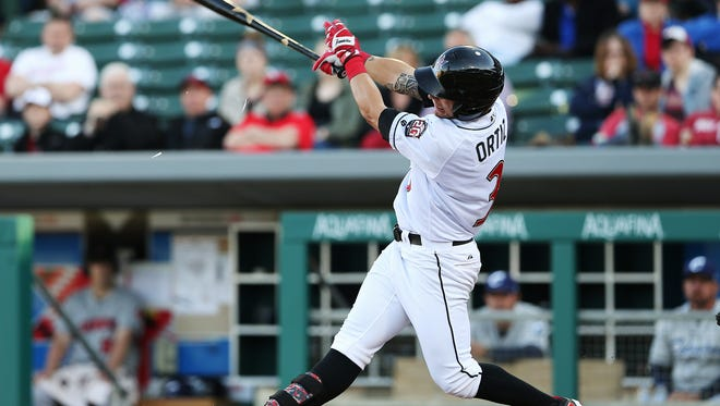 Indianapolis outfielder Danny Ortiz hit a solo home run in the Indians' 6-2 win over Pawtucket on Tuesday at Victory Field.