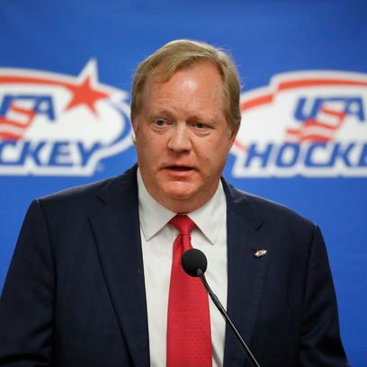 Jim Johannson speaks during a news conference in Plymouth,