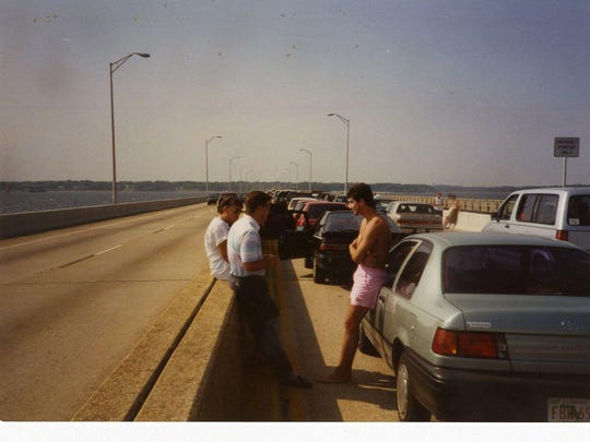 A1993 traffic delay on Pensacola Bay Bridge.