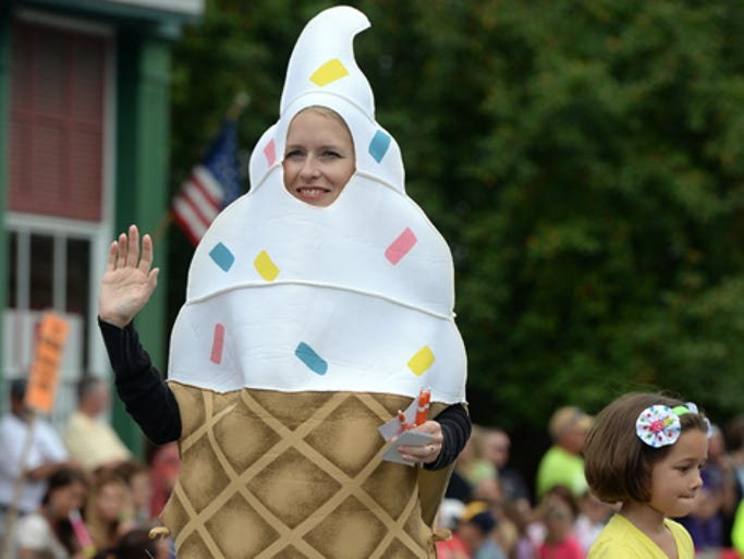 An ice cream cone from the Dairy walk on Main Street in Hagerstown for the Jubilee Days parade Saturday, Aug. 16, 2014.