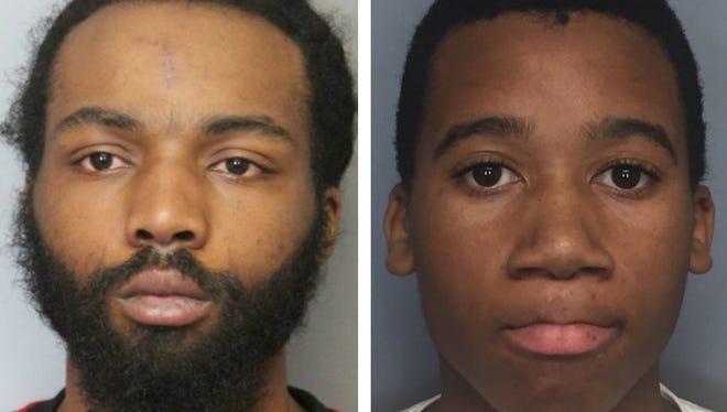 Devonte Dorsett, 22, (left) and Jakevis Ellington, 15