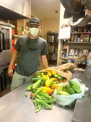 Eric Tobey, Conservation Technician at Sebastian County Conservation District, delivers fresh vegetables recently to HOPE Campus in Fort Smith.  Tobey is the gardener at the Sebastian County Conservation District's Holland Oaks Farm, which grows vegetables for the homeless shelter. He is a 2018 graduate of Mansfield High School, where he was a member of FFA for four years. Tobey is currently a student at Arkansas Tech majoring in agricultural sciences.