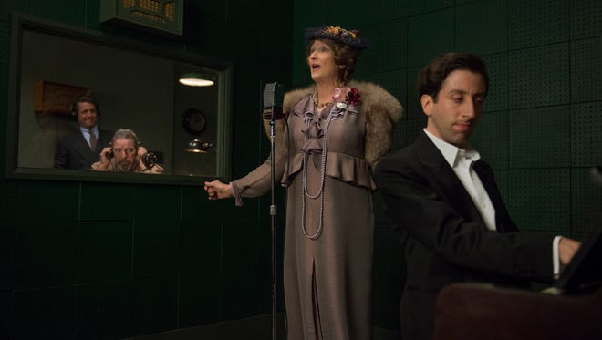 Florence (Meryl Streep) records with accompanist Cosmé McMoon (Simon Helberg) in 'Florence Foster Jenkins.'