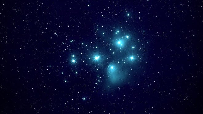 The Pleiades, photographed Jan. 4, 2019 by Juan Iacruz.