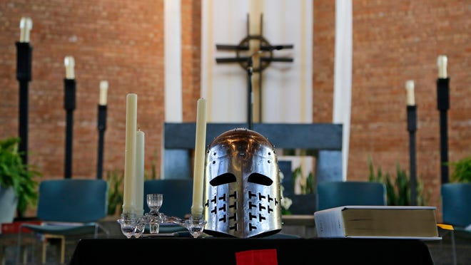 The Sovereign Military Order of the Temple of Jerusalem (Knights Templar) hold Order of Convent ceremonies Saturday, September 13, 2014, at St. Thomas Aquinas Catholic Center in West Lafayette.
