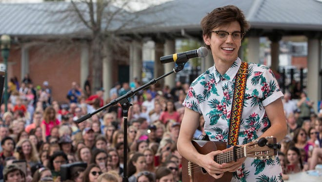 MacKenzie Bourg performed for thousands of fans last Saturday at Parc International in downtown Lafayette.