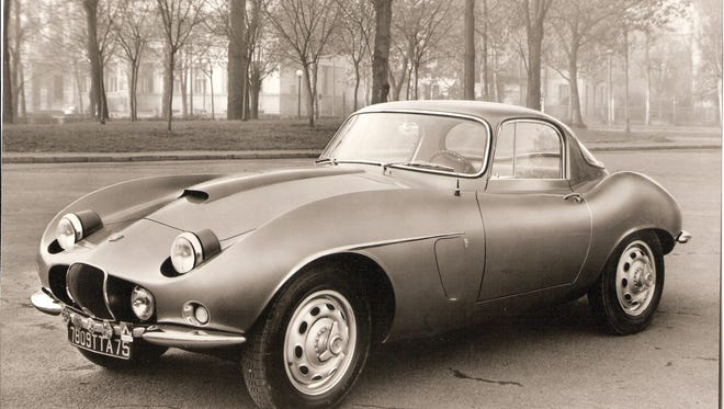 This is a photograph of a rare Arnolt-Bristol coupe. Of the 142 Arnolt-Bristol sports cars built from 1954 to 1961, fewer than five were hardtop models.