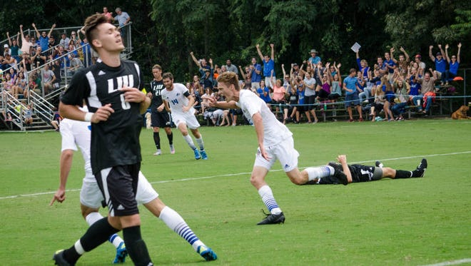 Roberson alum Ben Chapal scored the winning goal for the UNC Asheville soccer team on Sunday.