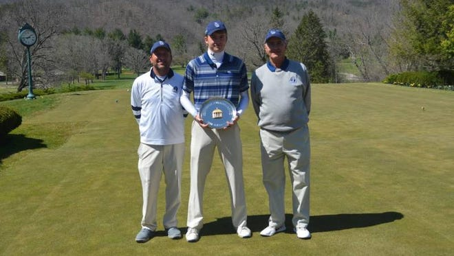 Old Dominion freshman Nick Rencis of Long Valley, center, won the Greenbrier Intercollegiate on April 12.