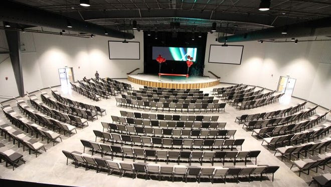 Grace Baptist Church has unveiled a new student ministry center with 700-seat auditorium and other features.