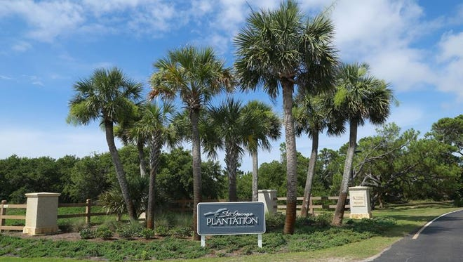 The updated entrance to The Plantation community on St. George Island. October marks the community's 40th anniversary.