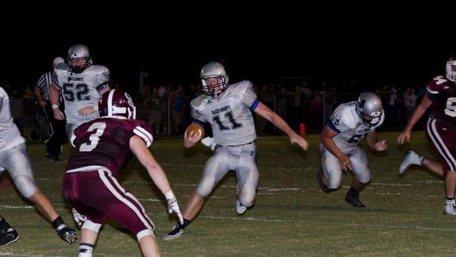 Robbinsville quarterback Skyler Matheson (11).