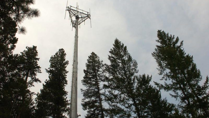 Cellphone towers such as this one in Lincoln, Mont., may be tapped by local police to scoop up its data. There are indications that some Iowa law enforcement agencies have obtained bulk cellphone data as part of their crime-fighting efforts the past two years.