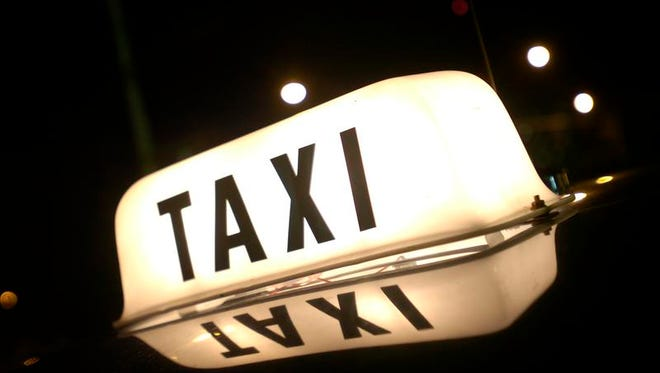 Stock photo of a taxi light