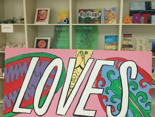 A mural painted by youth through Noel Community Arts