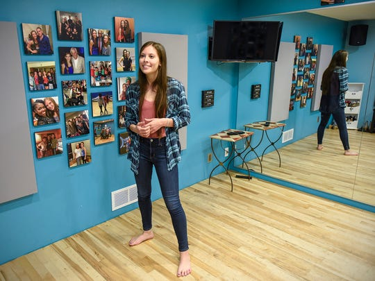 Ashley Gonzalez, Sauk Rapids, is organizing The Swingin' into Summer Tap Intensive one-day event set for June 3. She is shown Tuesday, May 22, at her home tap studio where she gives lessons.