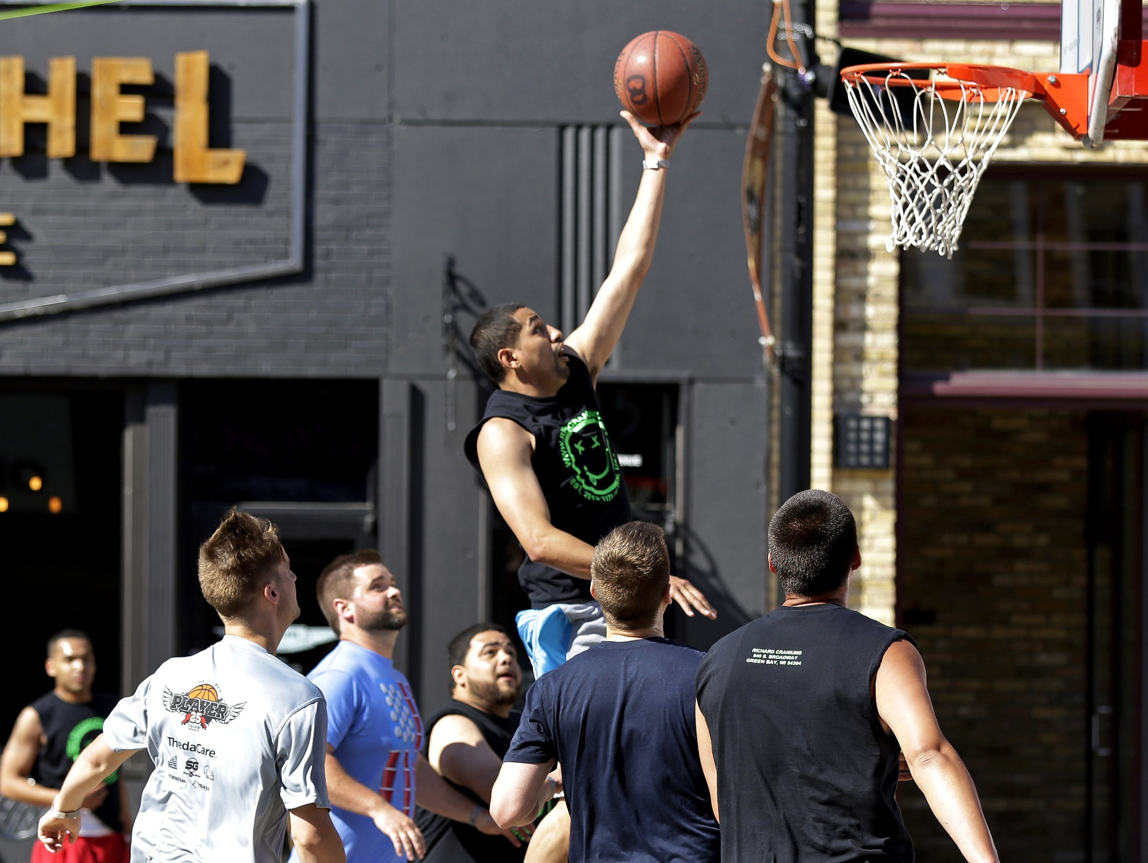 Three-on-three hoops will take over downtown Neenah in June.