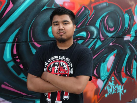 Des Moines breakdancer and instructor Anthony San.