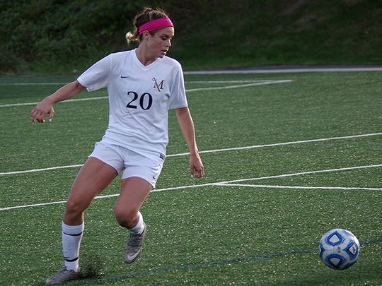 Sydnie Parker recorded her first goal and assist of her college career recently for Millersville University.