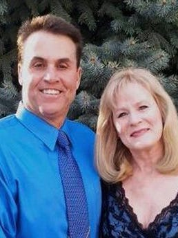 This undated photograph provided by the Bertolet family shows Harold Henthorn and his wife, Toni. This week, a federal grand jury indicted Harold Henthorn on a charge of first-degree murder more than two years after his wife, Toni, tumbled face first to her death off a ledge in Colorado's Rocky Mountain National Park.