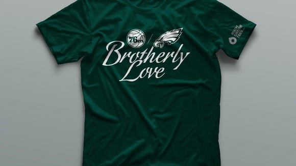 76ers players to wear 'Brotherly Love' shirts to support Eagles before Super Bowl