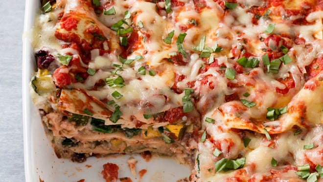 With a combination of vegetables, this lasagna dish won't even make you think about the meat that's not involved.