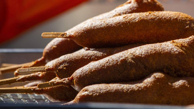 "Fresh corn dogs are ready to be served at the Fletcher's Corny Dogs pop-up food truck at Mutts Canine Cantina in Dallas. The company ""wanted to be more active and involved in the community outside of the State Fair,"" according to Fletcher's officials."
