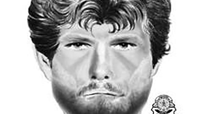 This undated sketch provided by Oklahoma State Bureau of Investigation shows an unidentified man wanted for questioning about a nearly decade old slaying.The man is not a suspect or person of interest in the 2011 death of 19-year-old Carina Saunders, but is wanted for questioning because he was seen in the area at the time of her death, according to an OSBI news release Tuesday, Nov. 3, 2020.