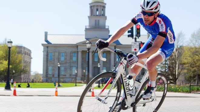 Iowa City's Kevin McConnell came in second Sunday at the Old Capitol Criterium race.