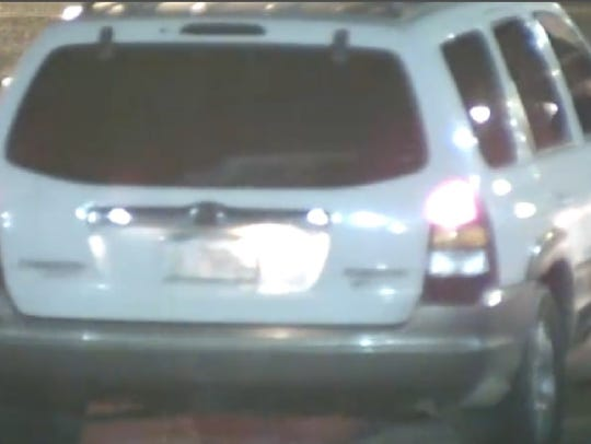 The vehicle caught on camera leaving the scene of the