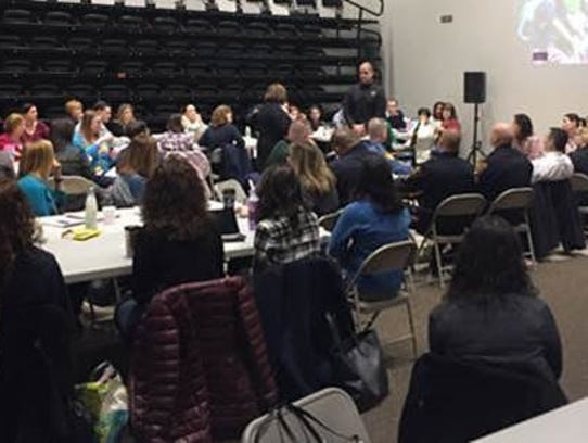 Lt. Kevin Burd led a district-wide security meeting