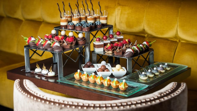 A display of some of the thousands of confectionery pieces being offered by host property Grand Sierra Resort and Casino at the Nov. 5 Fantasies in Chocolate gala.