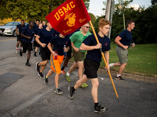 Recruits Get Early Taste Of Marine Corps Life In Nashville