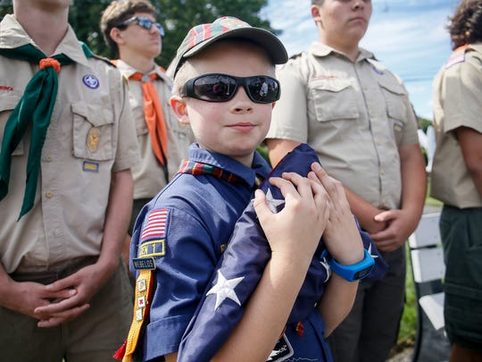 Cub Scout Webelos Cameron Both, 10, of South Plainfield