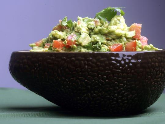 Spicy Guacamole Dip.