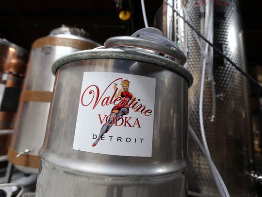 The distillery at Valentine Distilling Company on Monday,