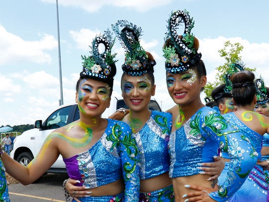 Thousands of people attend the Hmong Wausau Festival held Saturday, July 29, 2017, at the Eastbay Sports Complex in Wausau. The event's activities include flag football, soccer, volleyball, dance competition, and Mr. Hmong Royalty pageant. It runs Saturday, July 29th through Sunday, July 30.