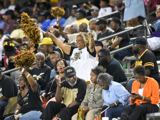 ASU fans cheer for the football team, Saturday Sept. 16, 2017