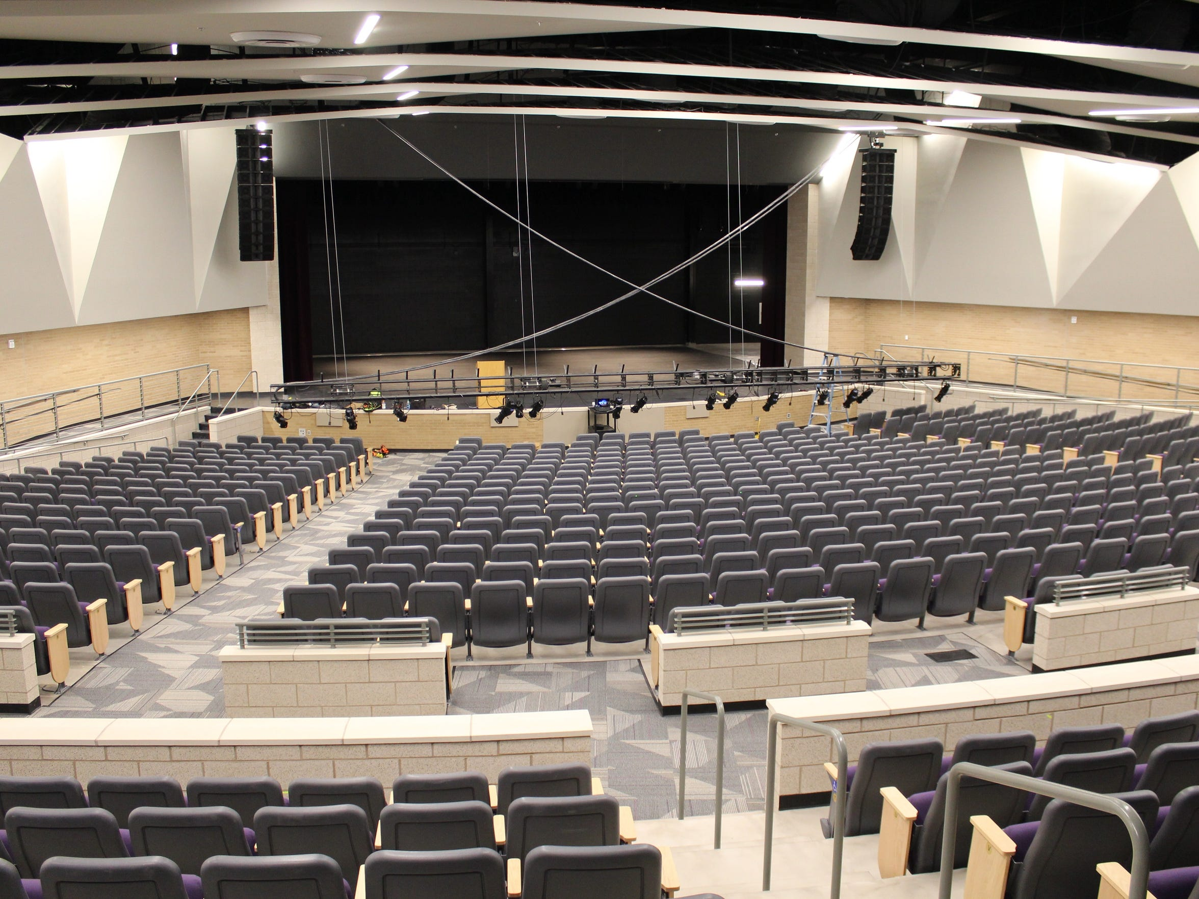The news Wylie ISD performing arts center will seat about 1,000, and features LED lights that lower to the floor, eliminating the need for a catwalk. The facility include a blackbox theater, choir room and ample storage.