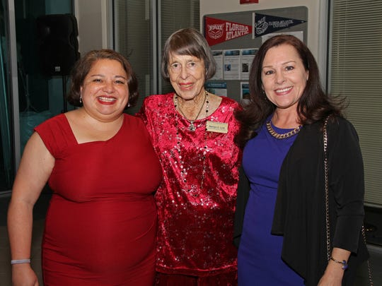 Dr. Esther Guzman, Marilyn Link and Dee Giannotti.