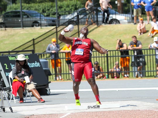 South Carolina's Josh Awotunde, a Delsea graduate,