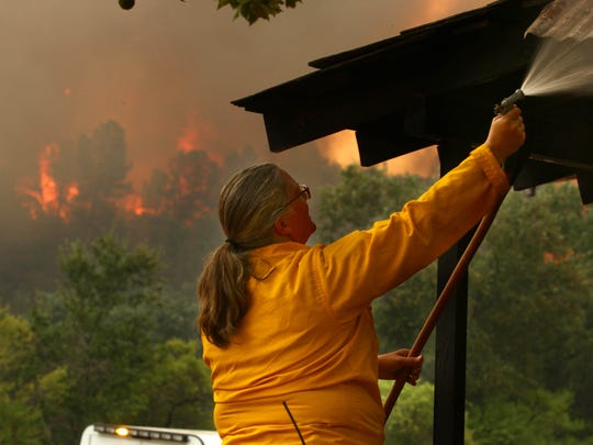 Former W.E.S. Camp teacher and Shasta State Historic Park superintendent Lori Martin worked with park staff to protect the park from Carr Fire flames on July 26, 2018. Now retired, Martin teaches kids about fire ecology and conservation in day camp trips to Whiskeytown N.R.A. (Hung T. Vu/Special to the Record Searchlight)