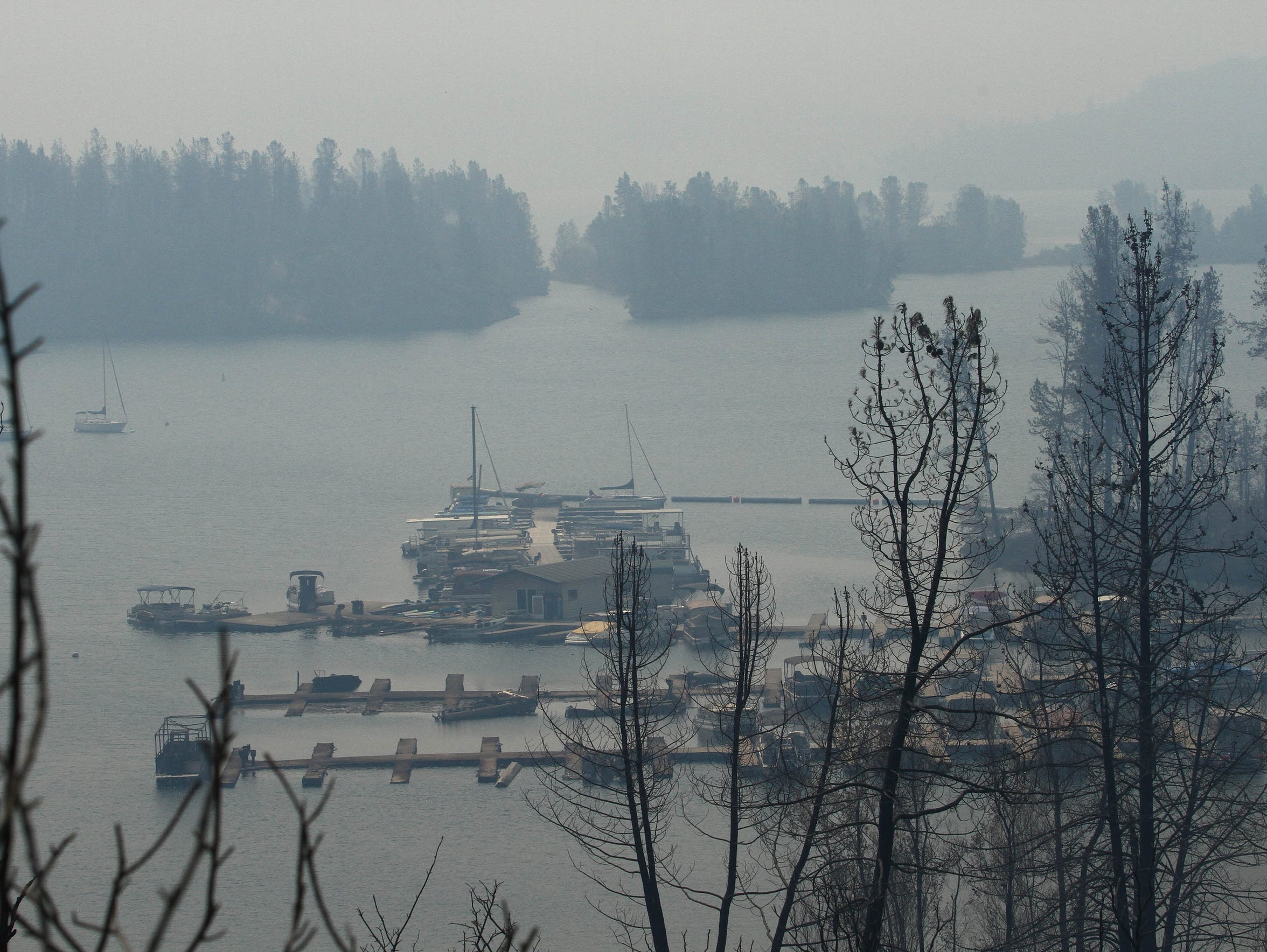 The Carr Fire burned up boats at Oak Bottom Marina. (Hung T. Vu/Special to the Record Searchlight)