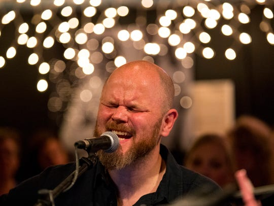 Quinn Loggins performs at the Bluebird Cafe in Nashville,