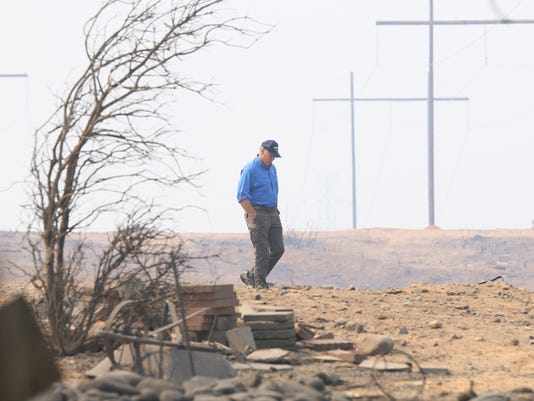 Secretary of the Interior Ryan Zinke touring the fire damage at Whiskeytown Rec. Area