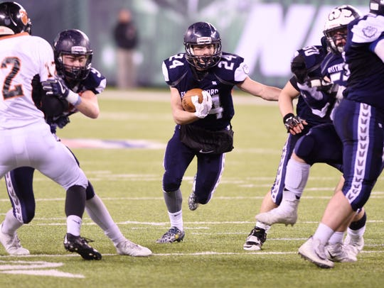 North 2, Group 2 state football final. Rutherford vs.