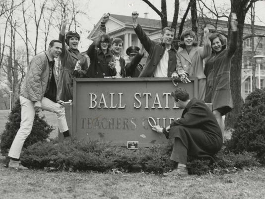 BSU Teachers College sign remove 1965
