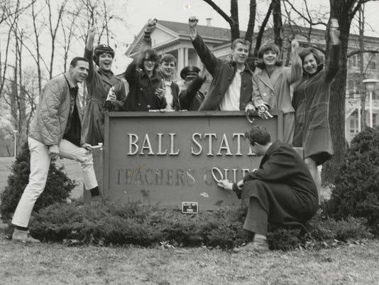 BSU Teachers College sign remove 1965