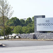 The food court at Haywood Mall was evacuated Tuesday.